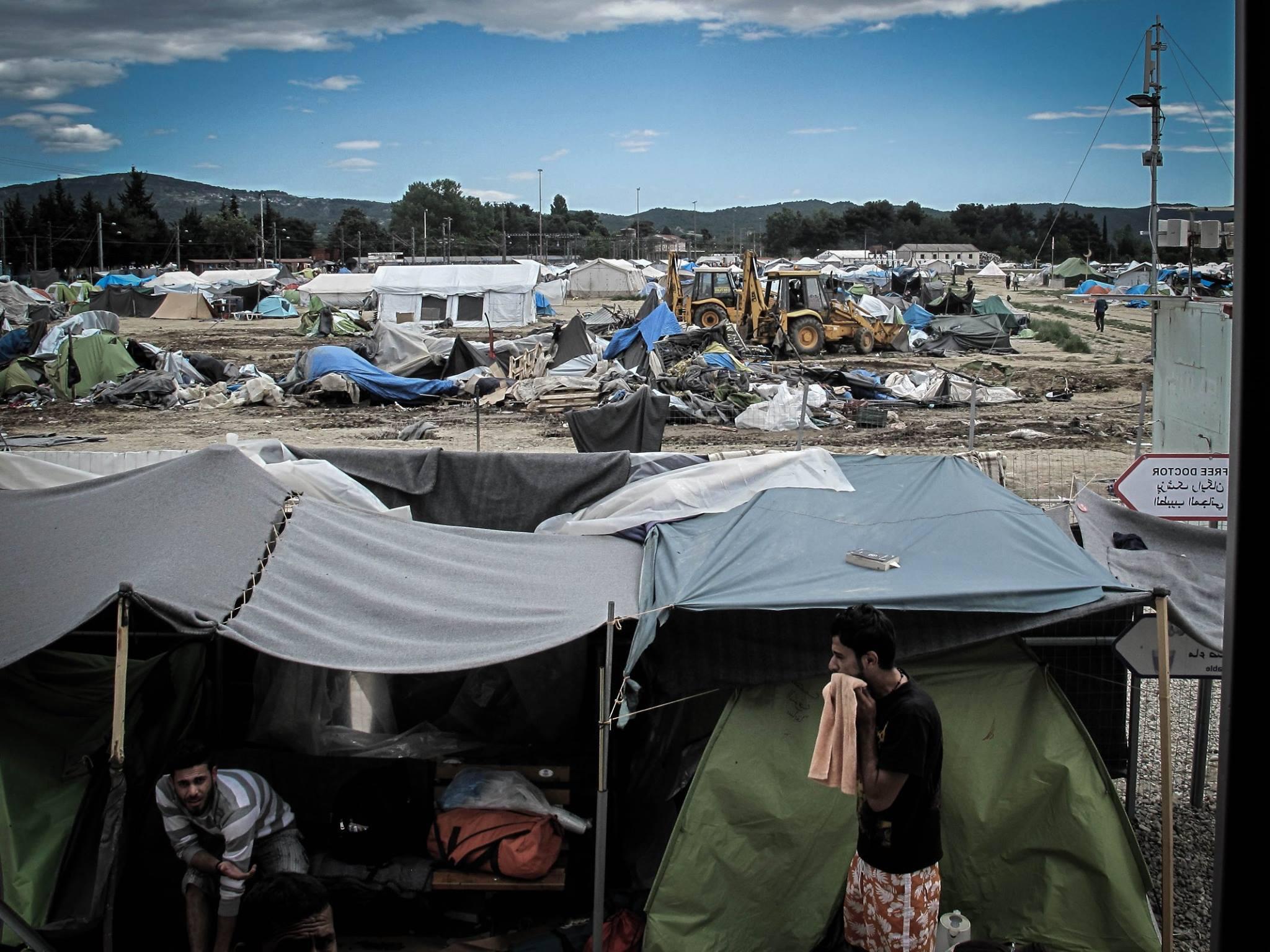 Desalojo del campamento de Idomeni